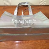 Custom Promotional Gift silver metallic non woven tote bag