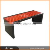 Arlau high quality wooden long slats bench