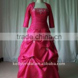red muslim long sleeve taffeta wedding gowns 100_7592