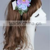 Stock bride design women purple Flower crown Hairband Wedding Headband Festival flower Hair Accessories