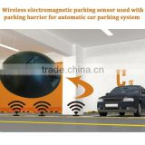 Wireless electromagnetic parking space sensor used with automatic parking barrier for car parking system