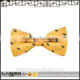 100% Silk fashion custom neckties fabric women bow ties