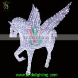 2016 new acrylic waterproof Pegasus flying white winged horse led light with wings for outdoor decorations