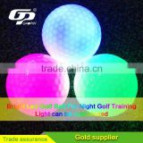 Hot selling Logo printing led golf ball for promotion led golf ball light up golf ball for night golf