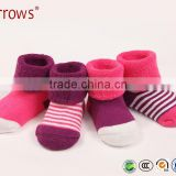 0-36 months Striped soft terry baby infant newborn thick socks keep warm spring autumn warm terry infant socks