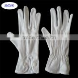 Military Police Ceremony Gloves Marching Band Uniform White Cotton Glove