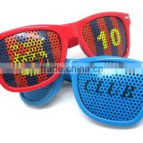 2014 New Collection Pinhole Sticker Fans Glasses With Flag printing lens Promotion 2014 World Cup Sticker Sunglasses (BSP2836)