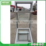 Safety Double Glazing Top Hung UPVC Glass Awing Window Inward Swing Casement Hung Window