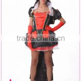 Wholesale sexy Red queen cosplay costume Sexy Halloween Costumes queen of hearts costume