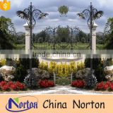 Gate decoration metal custom made pole lamppost for sale NTILP-020Y