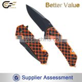 2016 High Quality 12C27 steel Outdoor Multipurpose Survival Folding Knife Survival with Multi tools in Knife