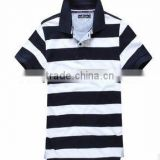 pure cotton block striped polo shirt , Autograph pure striped polo shirt ,2013 summer polo shirt