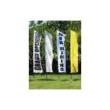 Outdoor Custom Beach Flags Banner Printing , Flag Advertising Banners Aluminum Pole