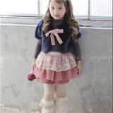 Faux Mink Fur Solid Color Little Girls Kids Wrap Cappa Shawl