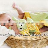 Wholesale Green Alien Soft Toy Fleece Blanket Baby Security Blanket