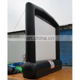 inflatable advertising screen with detachable banners with customized logo