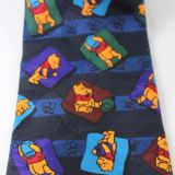 High Stitches Blue Polyester Woven Necktie Extra Long Plain