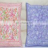 Factory Wholesale Custom Handmade Design Royal Print Square Shape 100% Cotton Indian Ethnic Style