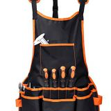 Adjustable cross-back straps work apron with 16 pocekts