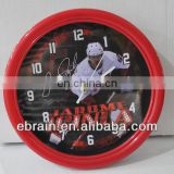 customized wall clock with super star printing,modern design round wall clock