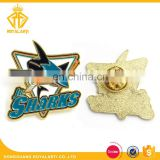 Customized Sharks Soft Enamel Public Safety Metal Pin Badge