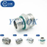 Stainless Steel Fasteners Straight Flat O-Ring Hydraulic Tube Fittings