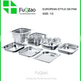 1/2 Hotel utensil catering stainless steel gastronorm food pan