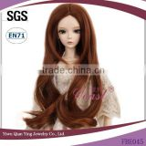 best quality wavy dark brown synthetic baby doll hair wigs
