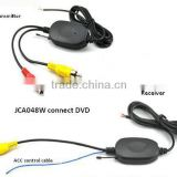 2.4Ghz Wireless Transmitter and Receiver for Car DVD Video signal with ACC control cable Wireless trasmitter and receiver adpter