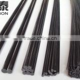 CFRP product pultrusion solid carbon fiber pole rod,flat,strip - 2mm x 1000mm made in China