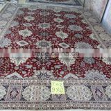 floral silk carpet 300lines 5X8 foot pure silk carpet high quality wool felt ball carpet