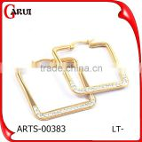 Square shape earrings gold stainless steel earrings for women