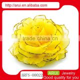 Wholesale China hair jewelry big pageant rose flower pin and brooch