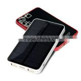 New product portable solar panel charger with solar cell,Solar Power Bank with 6000mah battery,solar charger for mobile phone