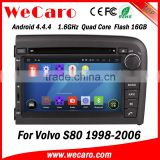 Wecaro WC-VL7061 Android 4.4.4 car multimedia system in dash for volvo s80 dvd player radio gps mirror link 1998-2006                                                                         Quality Choice