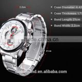 Middleland brand factory price LED best supplier for America market 8018 stainless steel watch