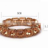 Wholesale vintage gold Plated Girl Crystal Bracelet 2015 Christmas Gift Fashion Bangles brand jewelry for women high quality
