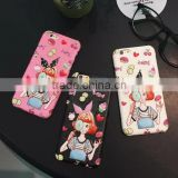 PU Leather 3D Design Candy Girl Case for iPhone