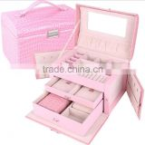 AN565 ANPHY Fashion Leather Multi-function Jewelry Gift Box Holder Display With Drawer 26.5*19*18cm