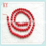 wholesale size 6mm bamboo red coral strands round coral beads