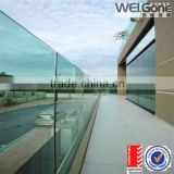 frameless Glass balcony railing outdoor balustrade