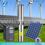 AC submersible solar powered water pump for farm irrigation