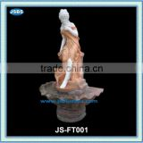 multi stone classical garden water fountain with lady