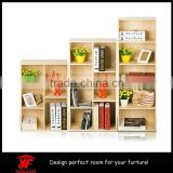 Factory sell portable library book rack shelving design wooden book rack