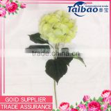 Good quality factory direct wholesale light green real touch artificial hydrangea flowers