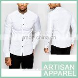 new design for man skim white shirts for man wholesale long sleeves print shirts for man