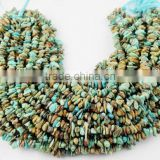 "2 Strands Natural Turquoise Chips Beads,Necklace and Jewelry Making Chips Beads,12.5"" Long Beads Strand,Uneven Chips"