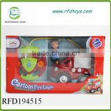 2ch cartoon car toy for kids radio control plastic toy train