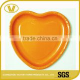 9inches Orange customize design your own paper food tray disposable plates price                                                                                                         Supplier's Choice