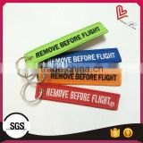 Promotional airline embroidered keychain, remove before flight key ring                                                                                         Most Popular
